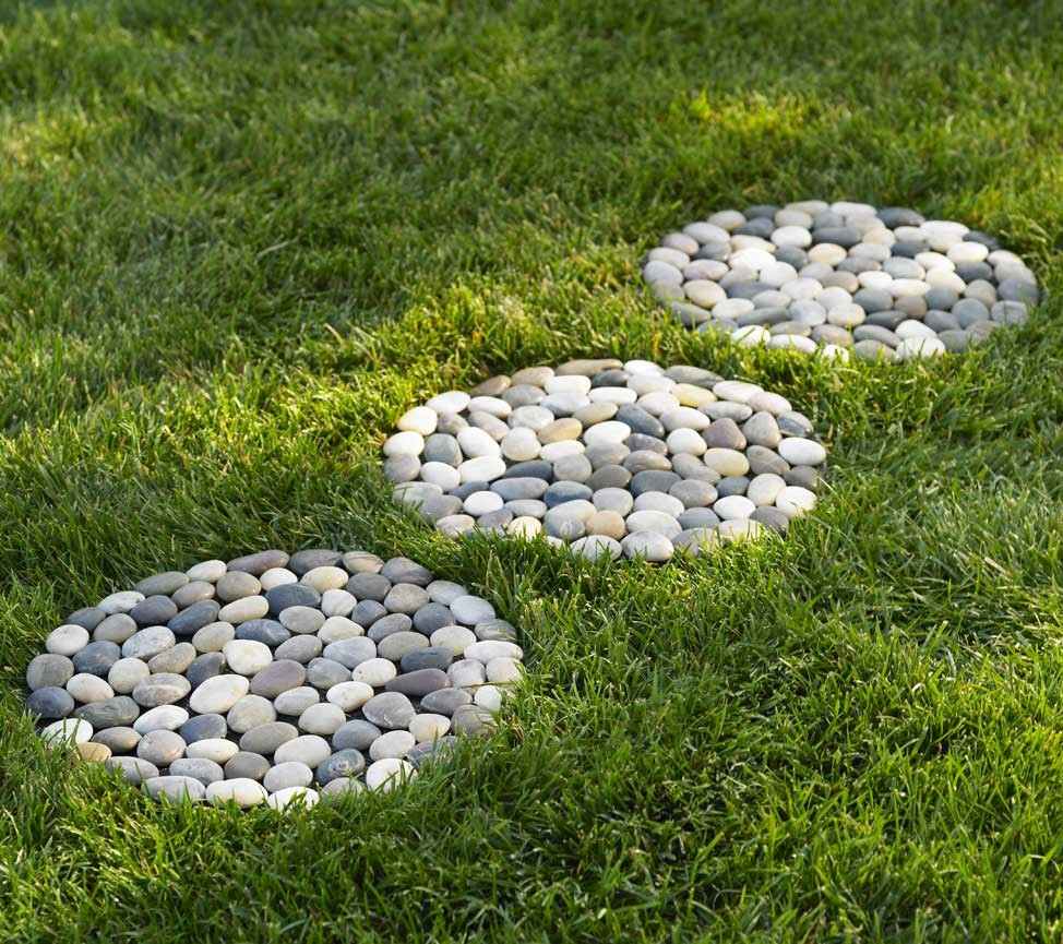Doğal çakıl taşları ile dekorasyon (2)