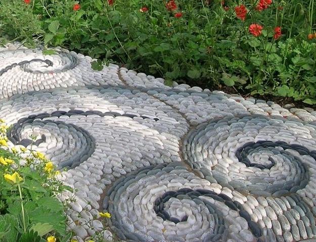 Doğal çakıl taşları ile dekorasyon (4)