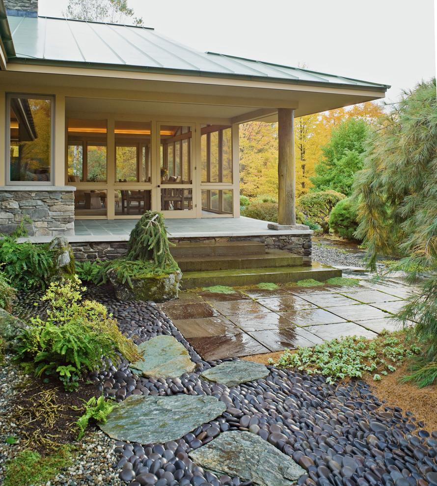 Doğal çakıl taşları ile dekorasyon (5)