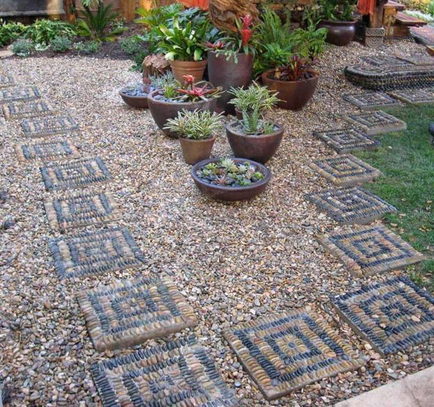 Doğal çakıl taşları ile dekorasyon (6)
