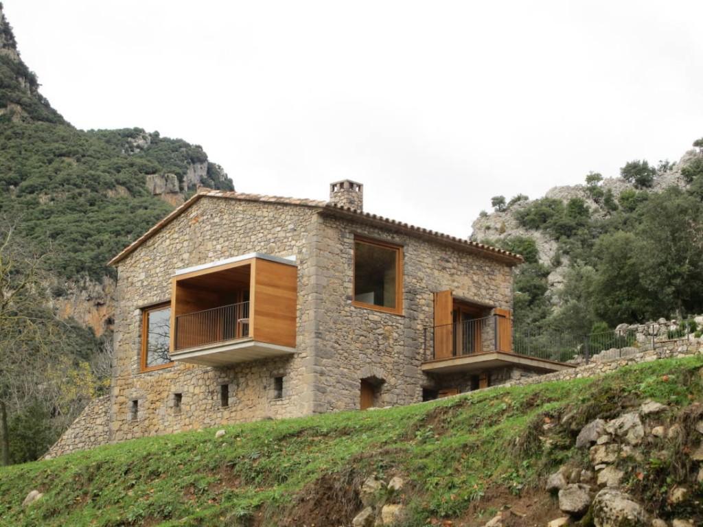 Zarif ve görsel yazlık taş ev modelleri (2)